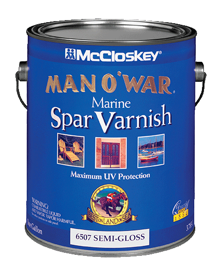 McCloskey Man O'War Spar Marine Varnish canshot