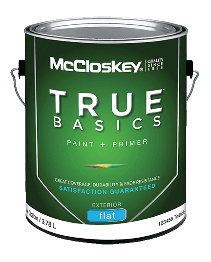 McCloskey TRUE BASICS EXTERIOR PAINT + PRIMER canshot
