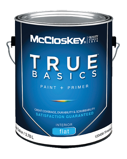 McCloskey TRUE BASICS INTERIOR PAINT + PRIMER canshot