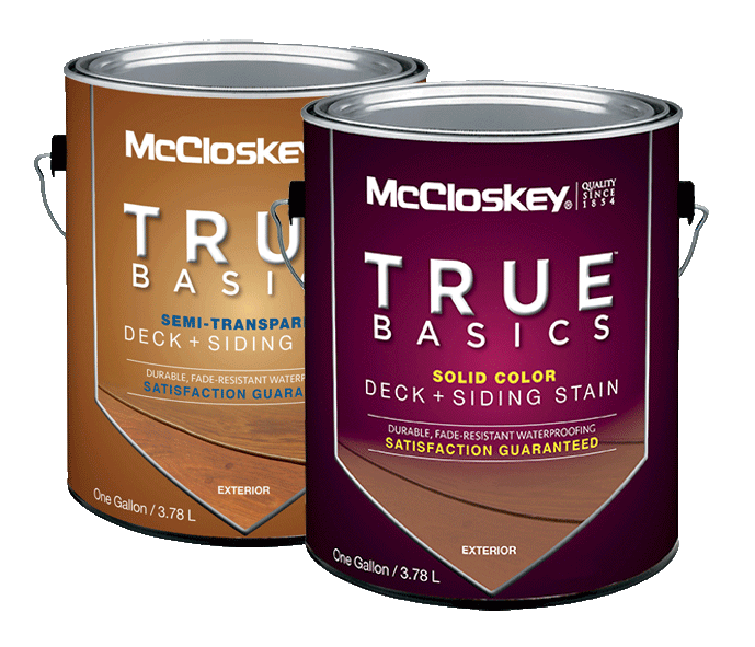 McCloskey TRUE BASICS DECK + SIDING STAINS canshot